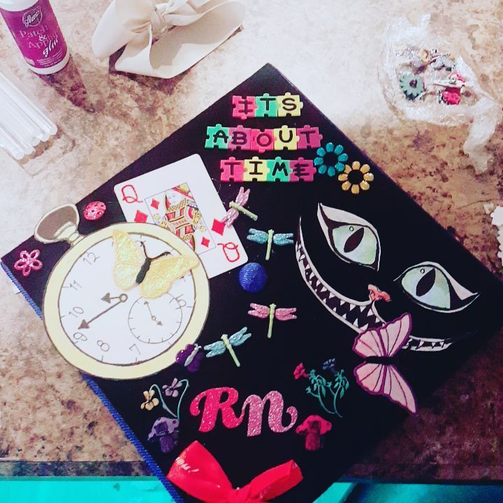 It S About Time Alice In Wonderland Grad Cap Design Follow Us