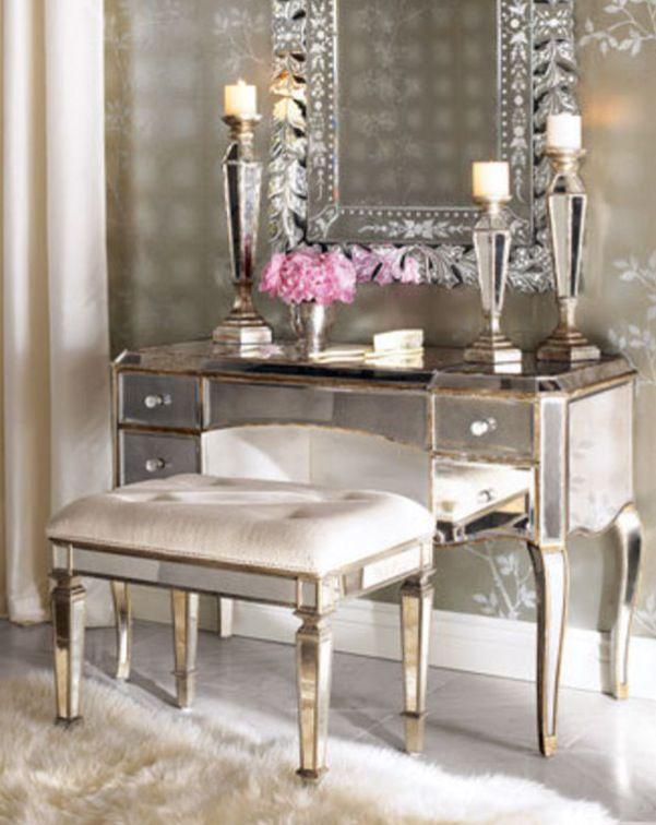 Mirrored furniture vanity Hayworth Mirrored Mirrored Dressing Vanity Reminds Me Of Old Hollywood Pinterest Mirrored Dressing Vanity Reminds Me Of Old Hollywood Mirror Mirror