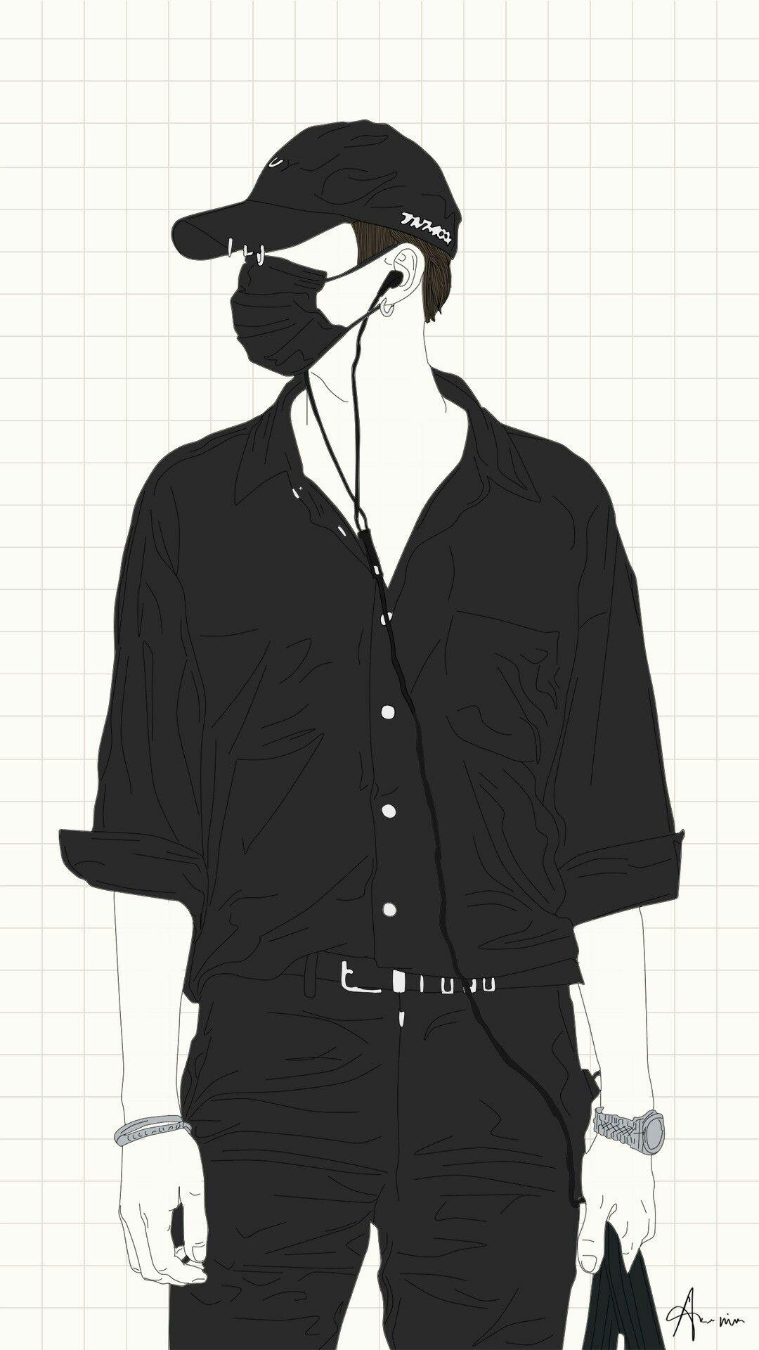 Wallpaper Bts Drawings Pencil Kpop Fanart Fans