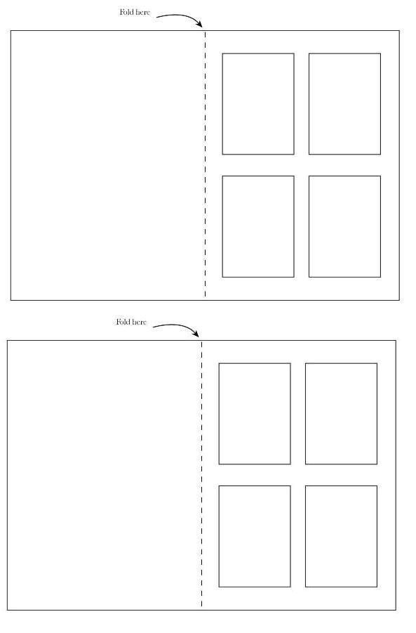 FREE Printable Window Template for Scrapbooking COLLAGE
