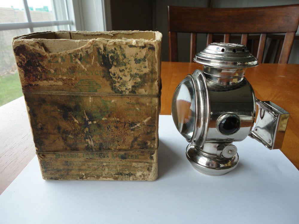 Antique Miller Daniels Walsh Ever Ready Bicycle Bike Lantern Lamp W Box Antique Bicycles Vintage Bicycles Vintage