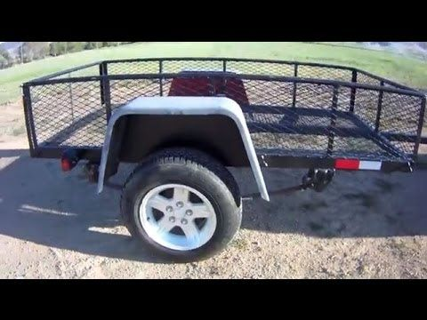 Build A Diy Utility Trailer For 300 Part 1 Utility Trailer