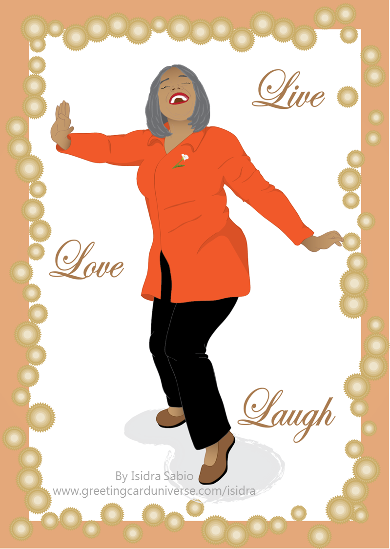 Birthday For Women Beautiful Older Woman Happy And Dancing Card