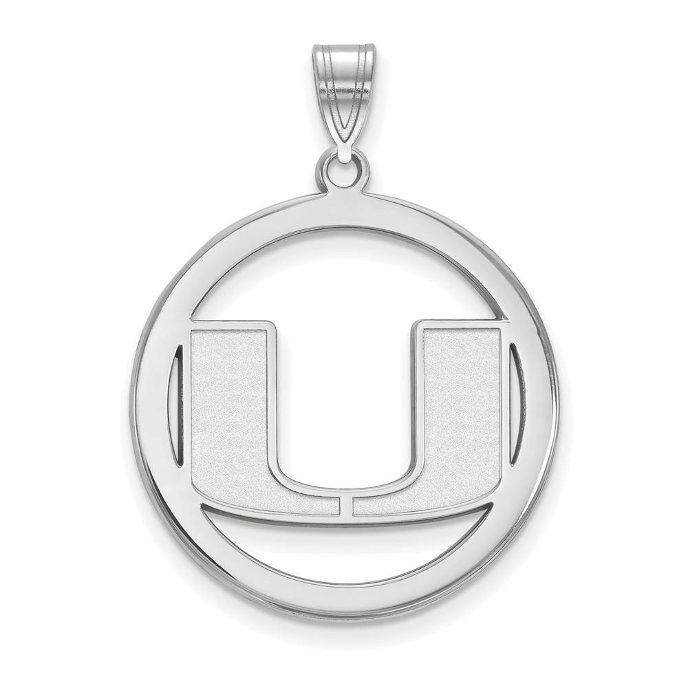 Sterling Silver Sterling Silver University of Miami Football Pendant