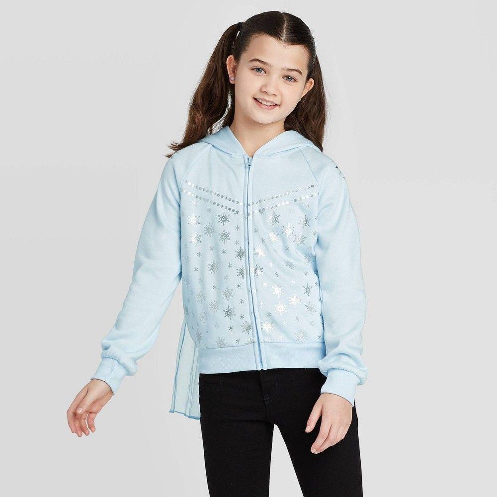 Girls Disney Frozen Elsa Cosplay Hoodie Sweatshirt Light Blue L Plus Sweatshirts Hoodie Elsa Cosplay Disney Sweatshirts [ 1000 x 1000 Pixel ]