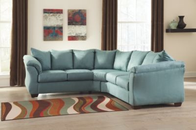 Darcy 2 Piece Sectional Sky Sectional Living Room Sets