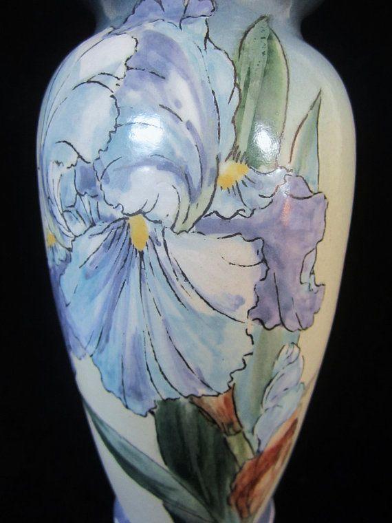 Santa Barbara Ceramic Design Iris Flower Vase - marked SBCD 83 GBH ...