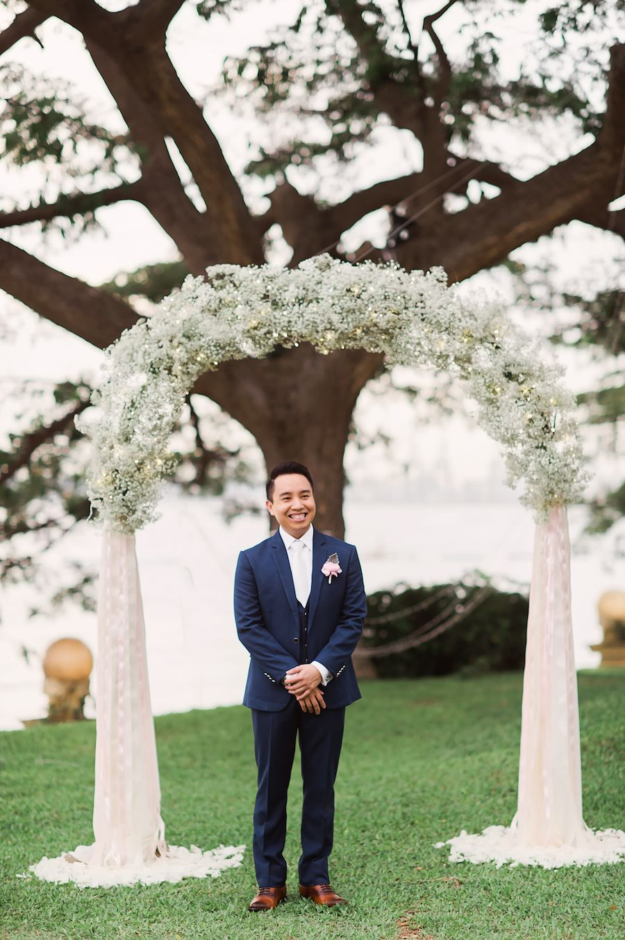 Eddie + Stephanie's Wedding with a Live Butterfly Release