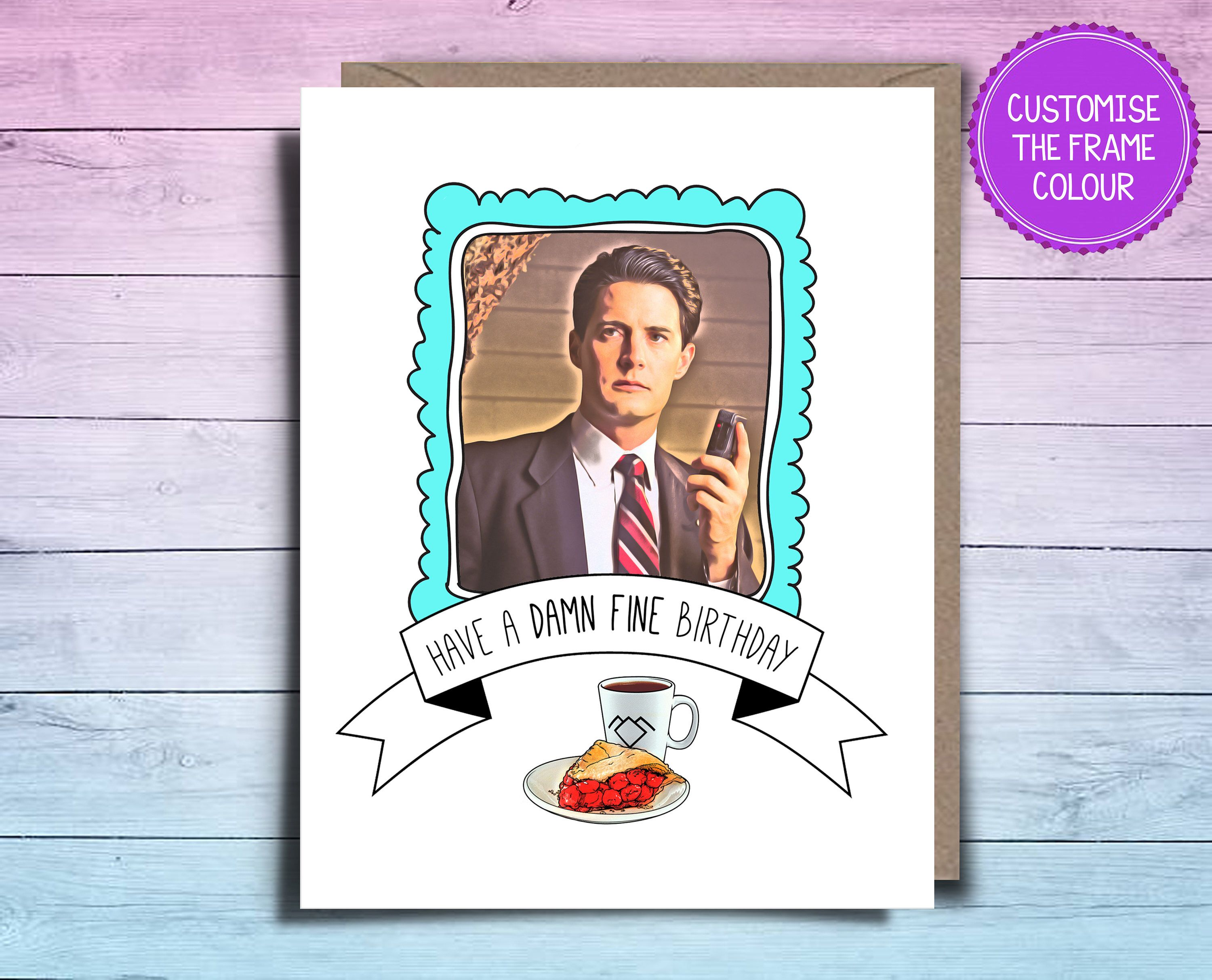 Twin Peaks Birthday Card Damn Fine Birthday Card