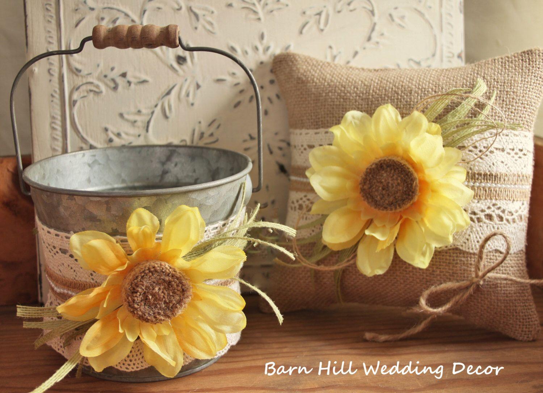 Flower Girl Basket, Ring Bearer Pillow, Wedding Ring