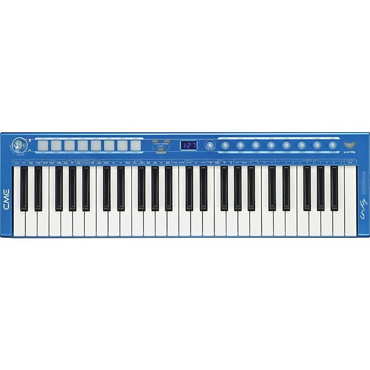 U-Key V2 49-Key USB MIDI Controller in Blue | Keyboards | Midi