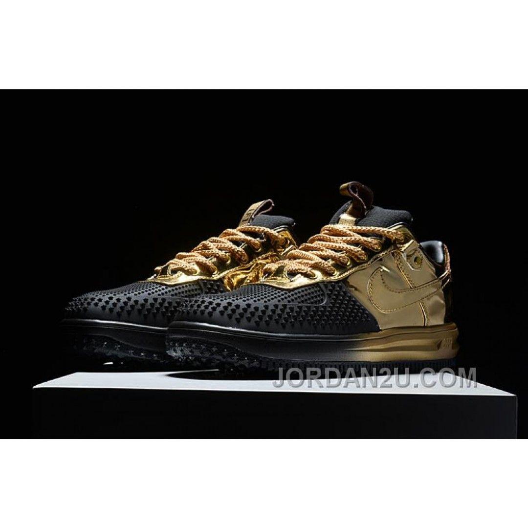 NIKE LUNAR FORCE 1 DUCKBOOT Black Gold | Nike lunar, Nike