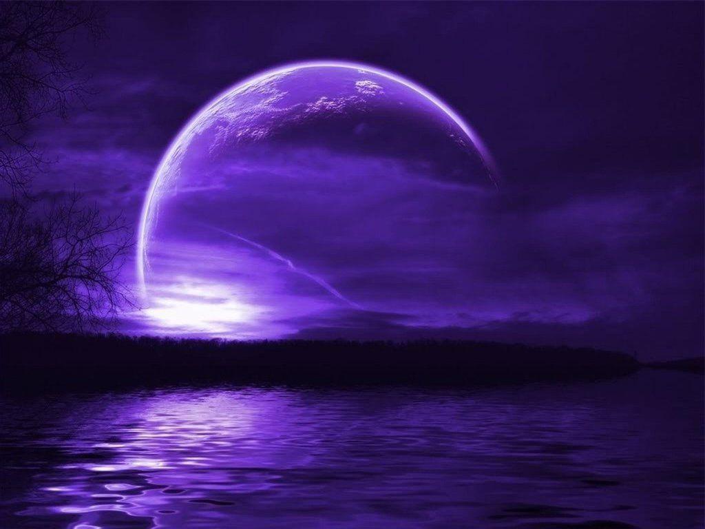 purple moon wallpaper images Wallpaper Color Purple