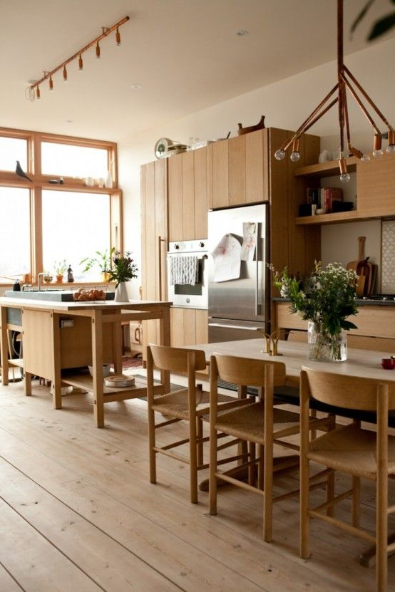 Kitchen Design With Norwegian And Japanese Details In Decor Kuchenboden Skandinavische Kuche Kuchendesign