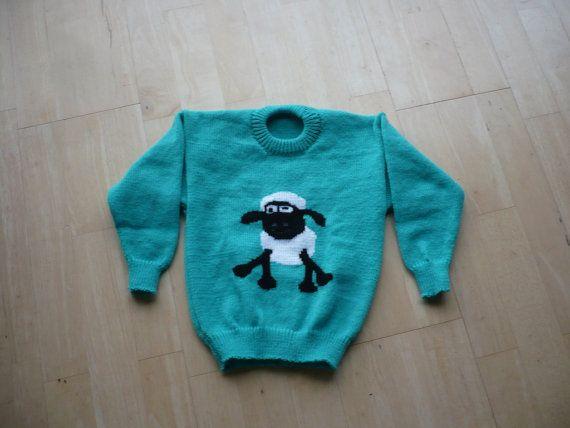 Sheep Knitting A Sweater : Shaun sweater juliesjumpers on etsy shawn the