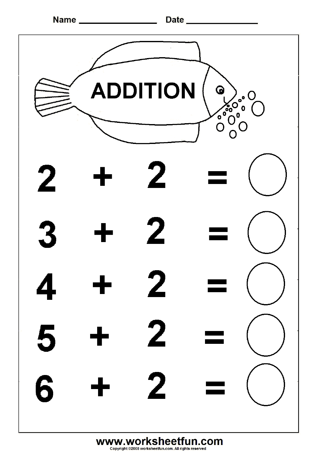 Math Vertical Addition Worksheet