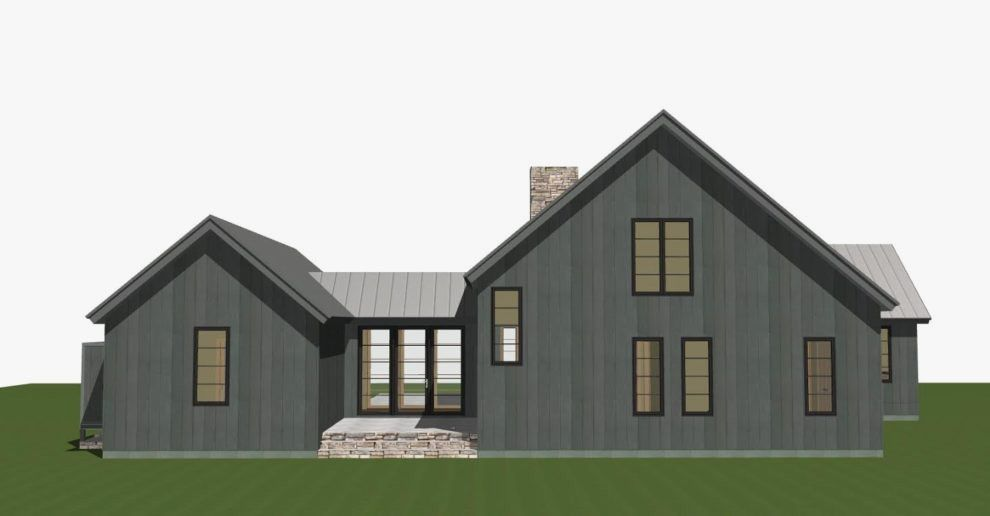 Image result for single story gray craftsman house | House Plans in