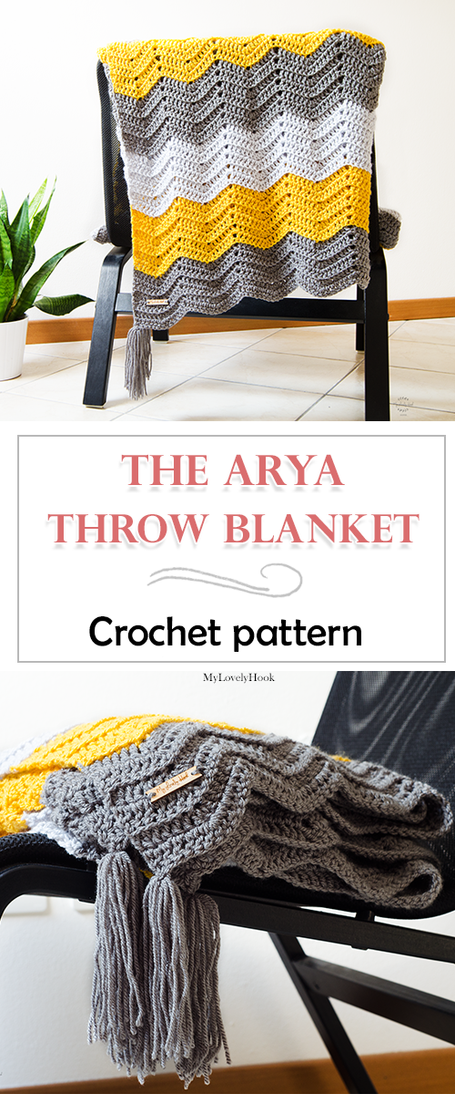 Crochet throw blanket pattern. The Arya throw blanket by ...