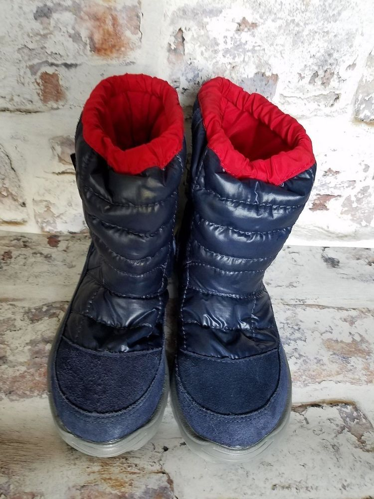 5f35f98bf The North Face Kids Boots sz 3 blue Winter Camp Waterproof ...