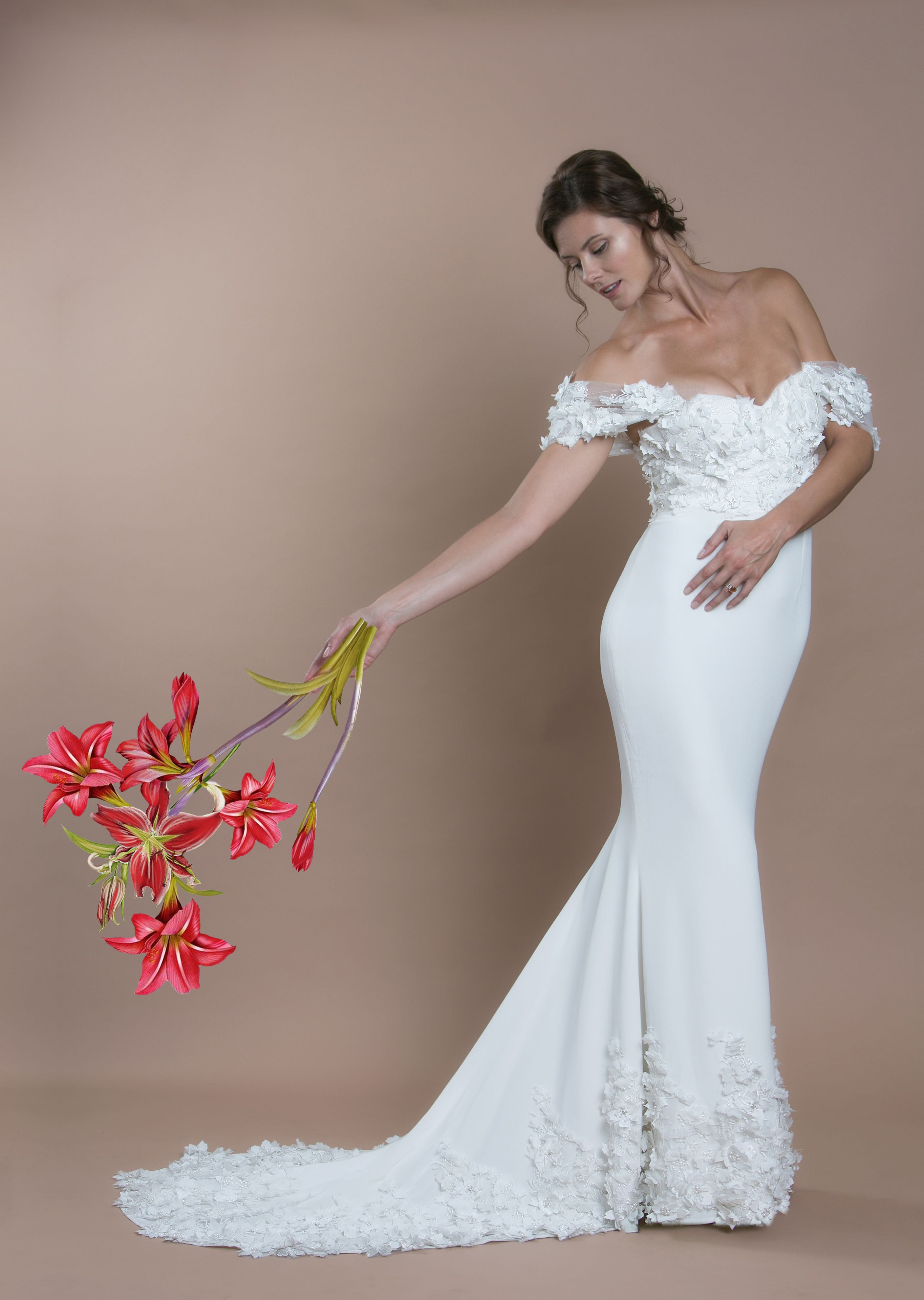 The Lily Gown Trish Peng Bloom Collection Trendy wedding
