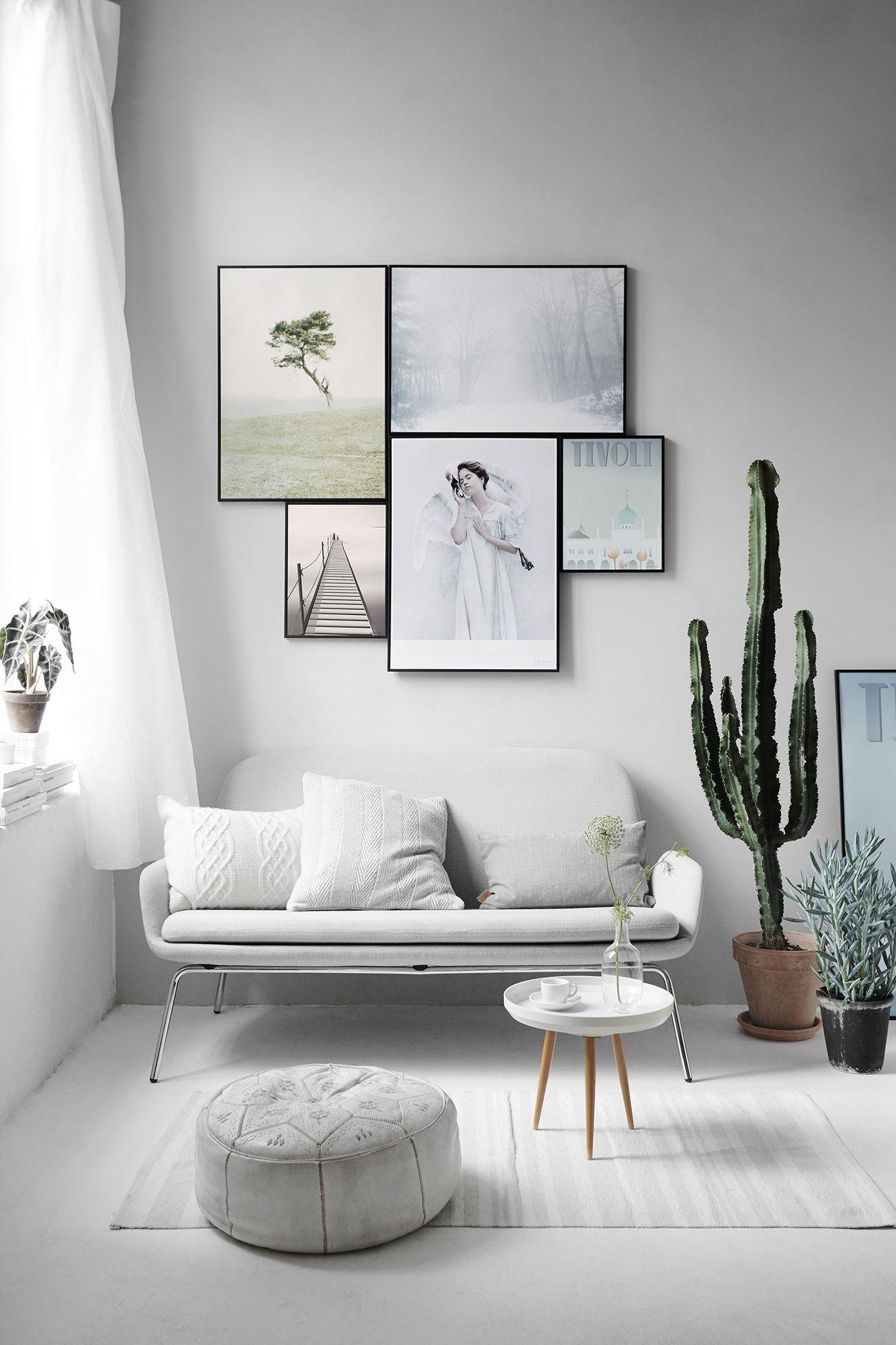 Vissevasse Scandinavische Stijl Interieur Minimalistische Woonkamer Woonkamer Decoratie