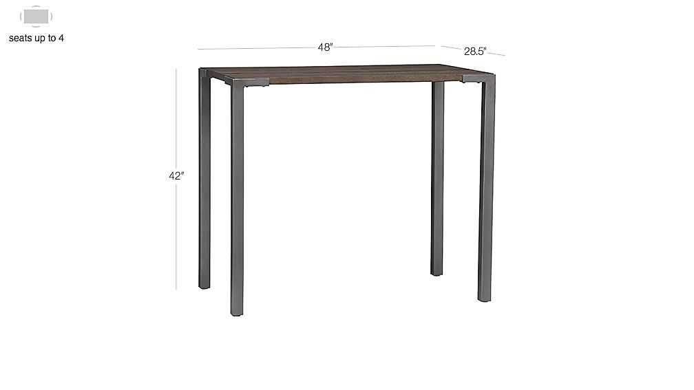 Stilt High Dining Table Pinterest Industrial Irons Wood - Cb2 high top table