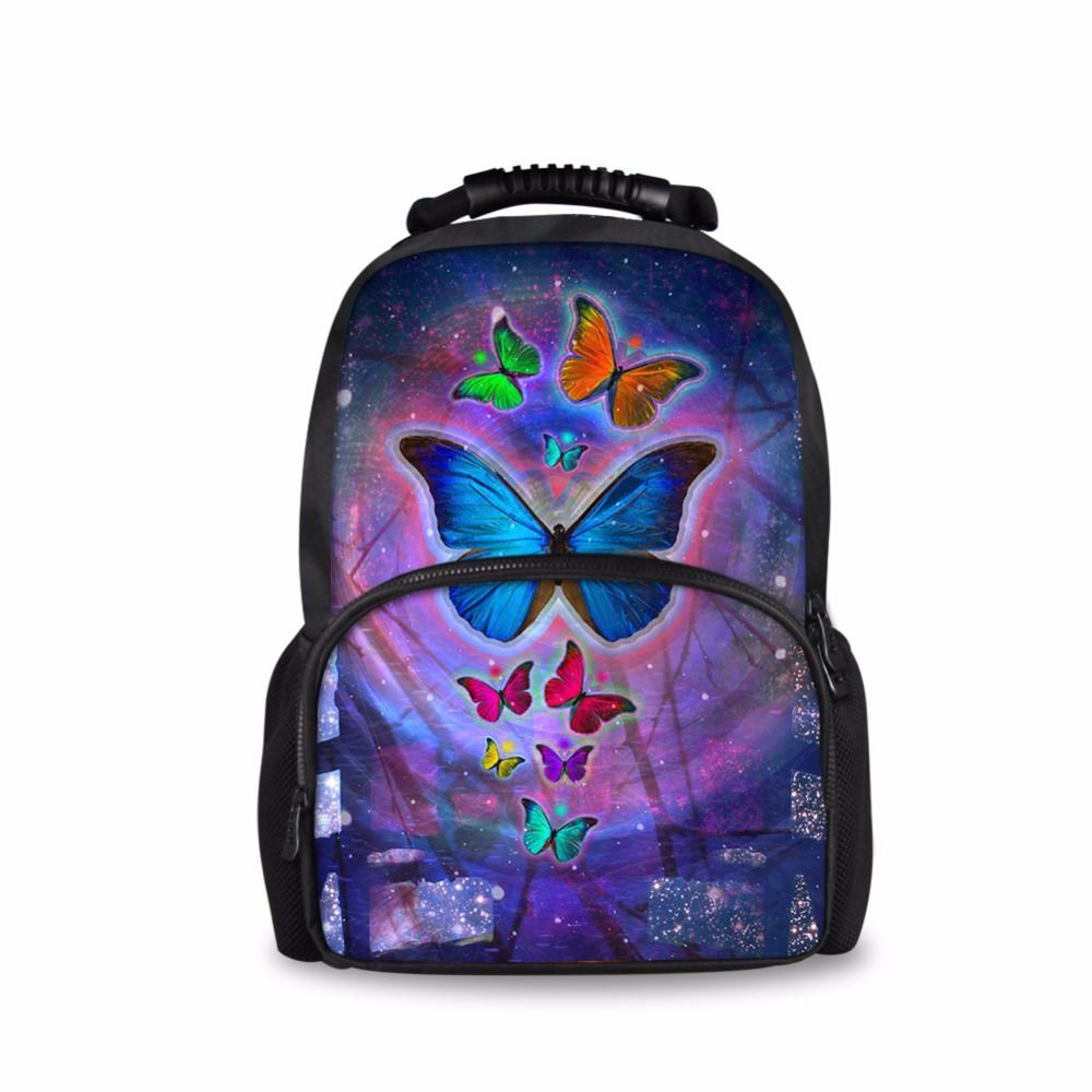 210bbc883bd4 FORUDESIGNS 3D Animal Butterfly Print Big School Bags For Teenagers ...
