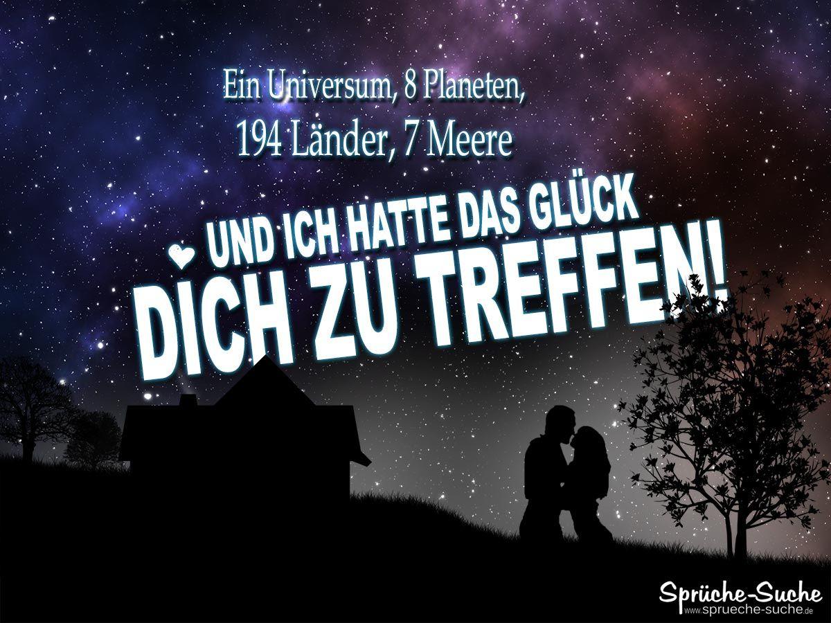 Miraculous Sprüche über Das Glück Decoration Of Liebe - Glück Spruch: Liebespaar Bei Nacht