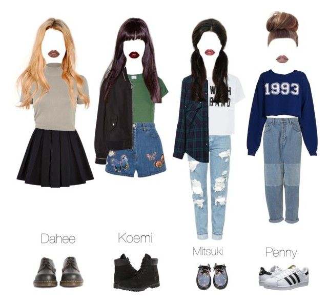 Going To Dinner With The Dolls By Charmoffical Liked On Polyvore Featuring Balmain River Island Dr Martens Topsh Fashion College Fashion Clothes Design