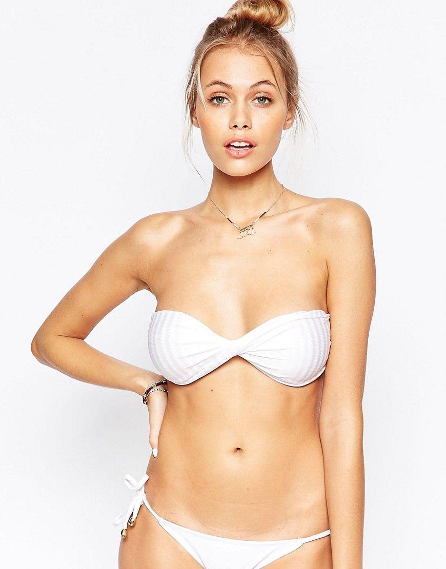 3dd5bd3b4b7 Mia Marcelle Moorea String Bikini Top - White | Products | Bikinis ...