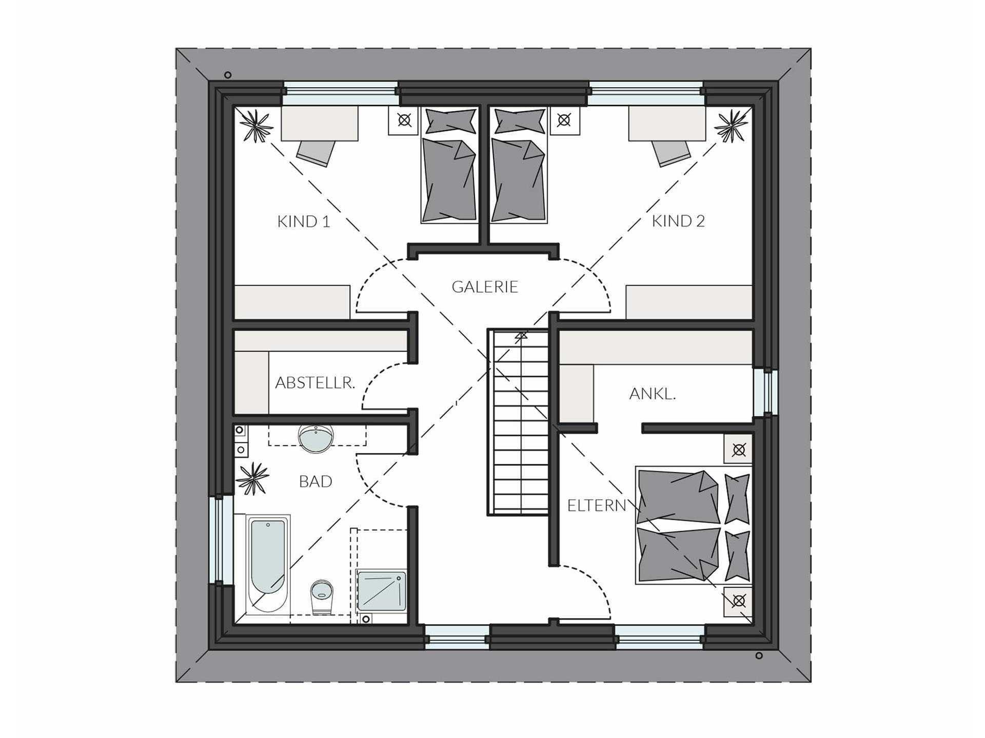Haus CityLife 600 WeberHaus Planimetrie di case