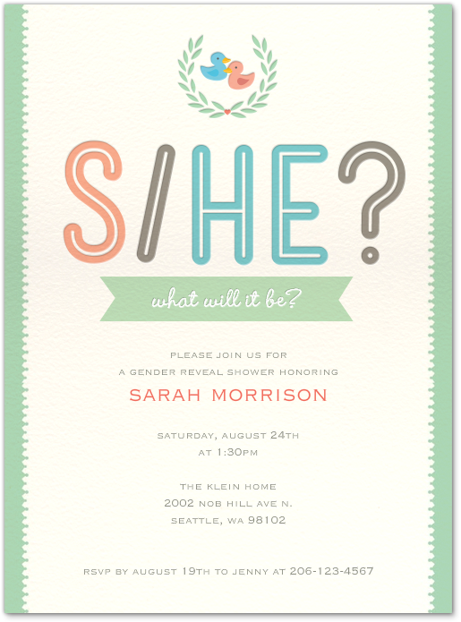 Evite For Party Free Baby Shower Invitations Gender Reveal Gender Reveal Party