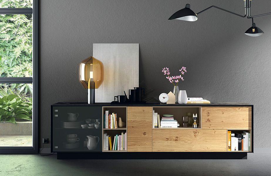 mueble salon roble y negro - Buscar con Google | Masculino singular ...