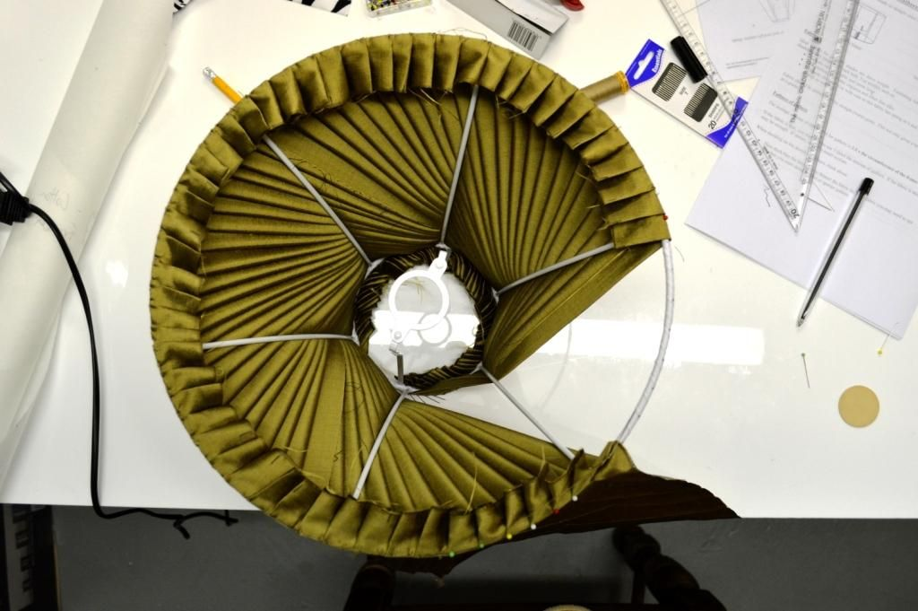 Pleated lampshade making course with Cocoon home