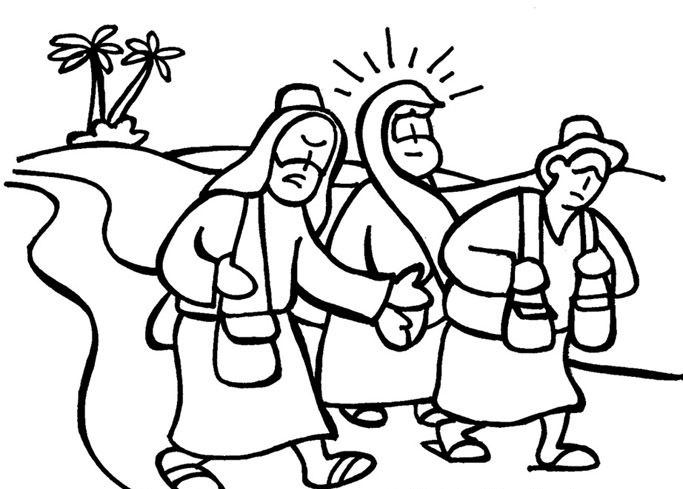 Image result for road to emmaus colouring page free