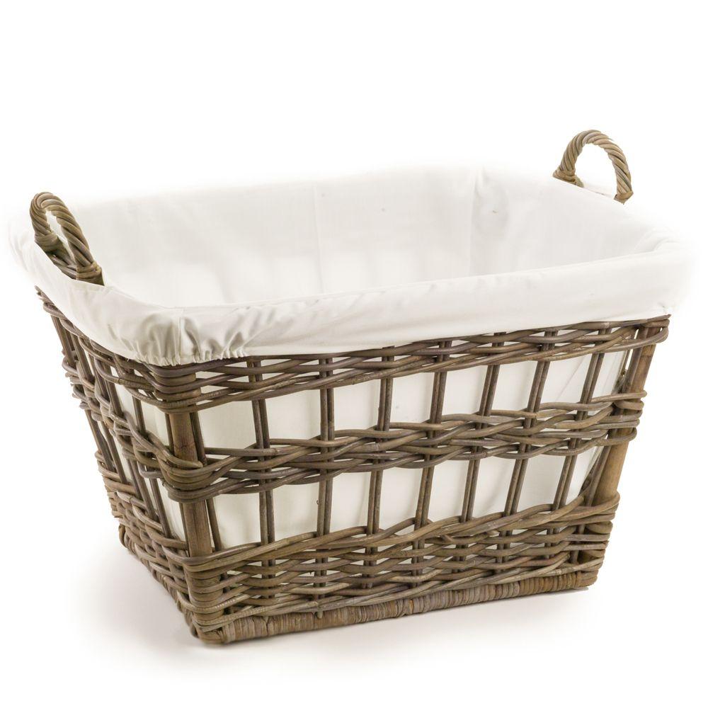 Kubu Wicker French Laundry Basket Wicker Baskets Wicker Wicker