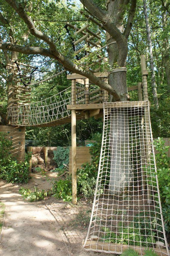 Rope Climber Playground Landscaping Backyard Playground