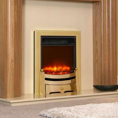 Electric Fires Celsi Electriflame 16 Traditional Modern Black Or Brass Electric Fires Modern Home Decor