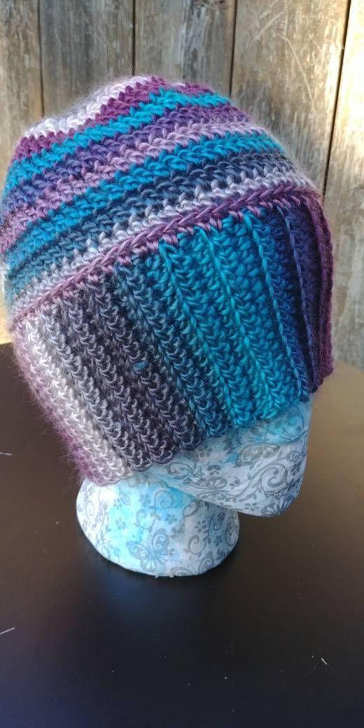 Messy bun hat, Crochet messy bun, colorful hat, Busy Mom Hat, Mom LIfe Hat, Messy Bun Beanie, Bun Beanie, Gift for Her, Messy Bun Toque #messybunhat