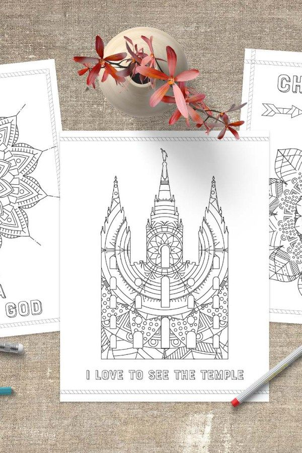 Free LDS Coloring Pages wwwLittleLDSIdeasnet YW Pinterest - copy coloring pages for book of mormon