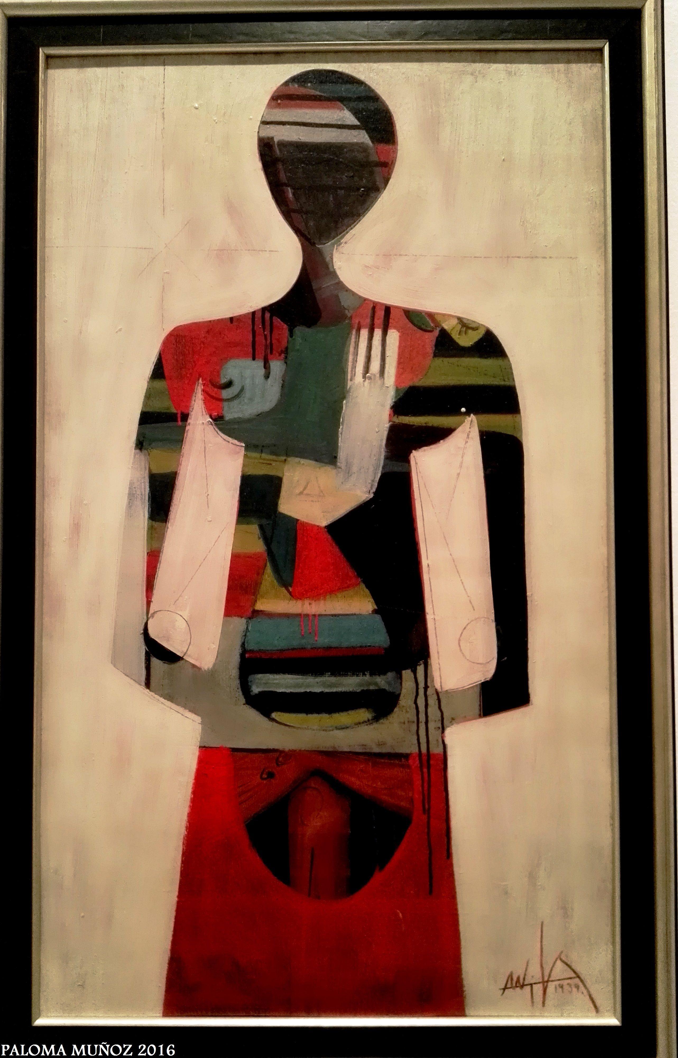 """Exposición Wifredo Lam. Museo Reina Sofía. """"Figura"""". Simbología afro-caribeña. Wifredo Lam Exhibition. Reina Sofia Museum. """"Figure"""". Afro-Caribbean symbolism."""