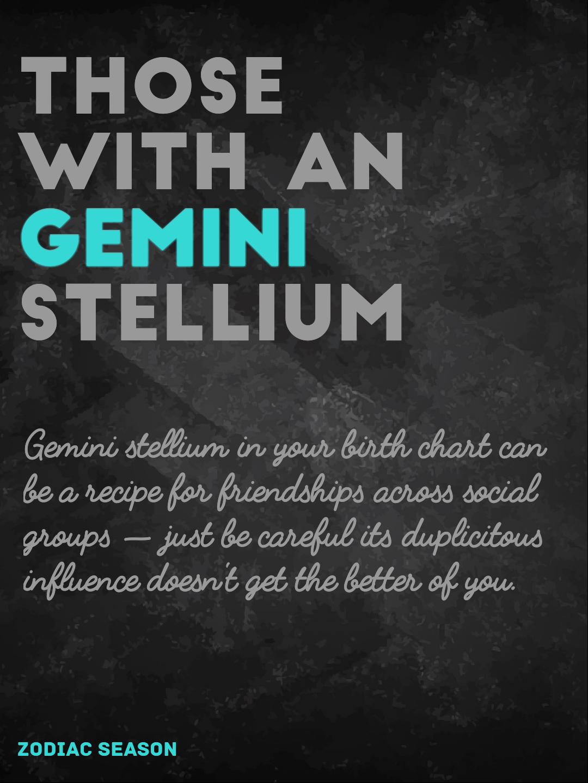 Gemini stellium or the Tasmanian Devil   Zodiac- Learn
