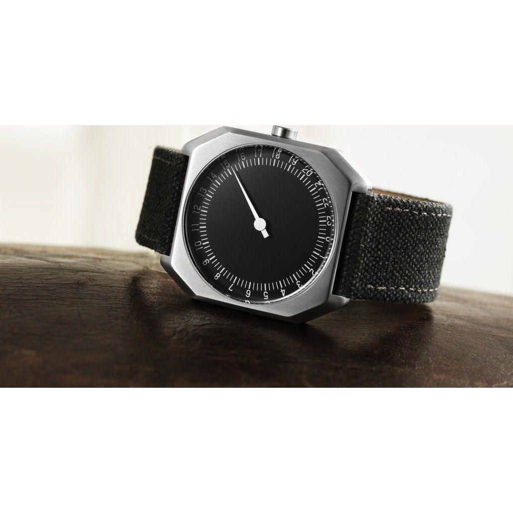 slow Jo 14 Black Watch Anthracite Canvas - Sportique