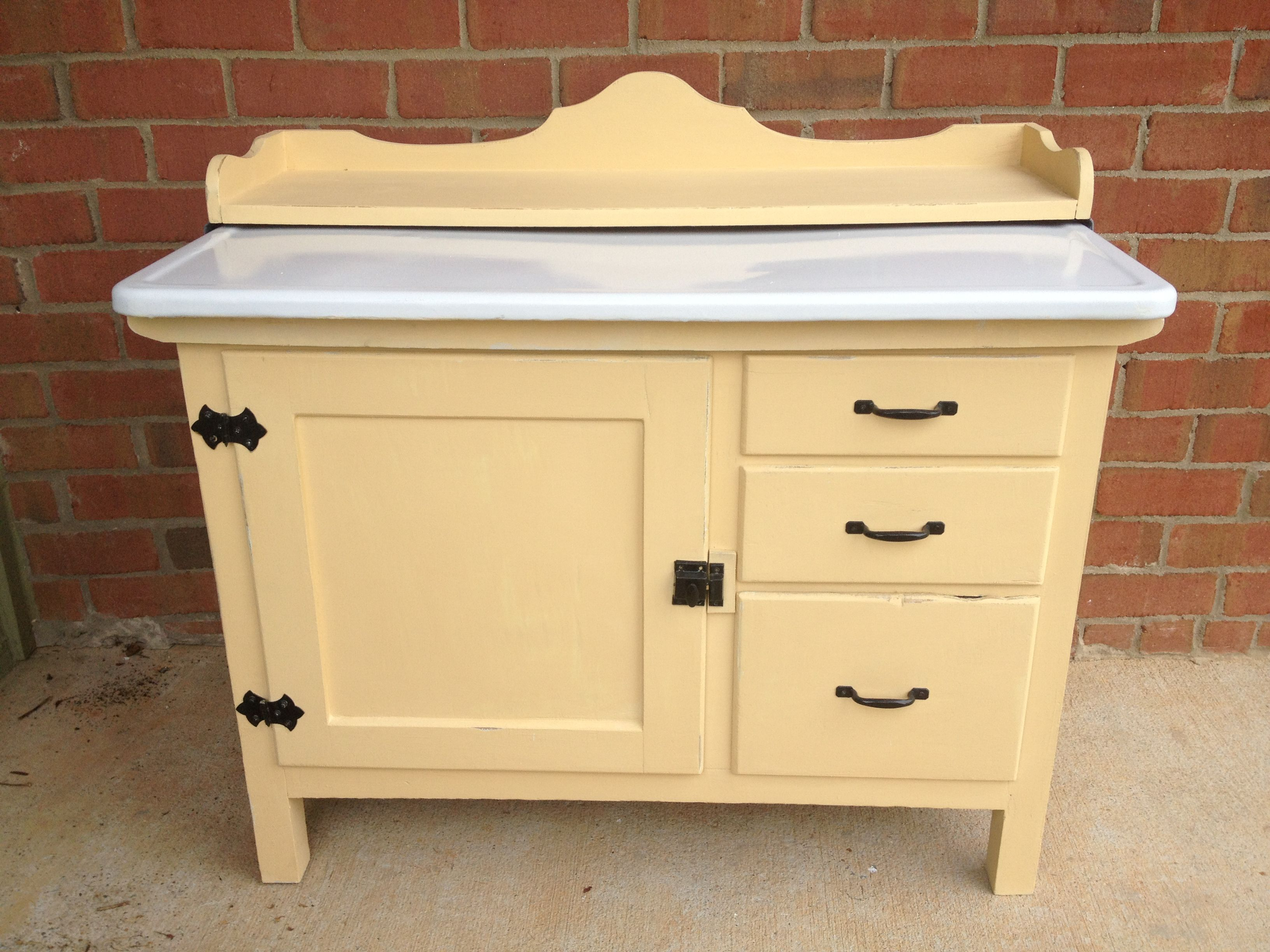 Best Small Hoosier Cabinet Base With Porcelain Counter 400 x 300