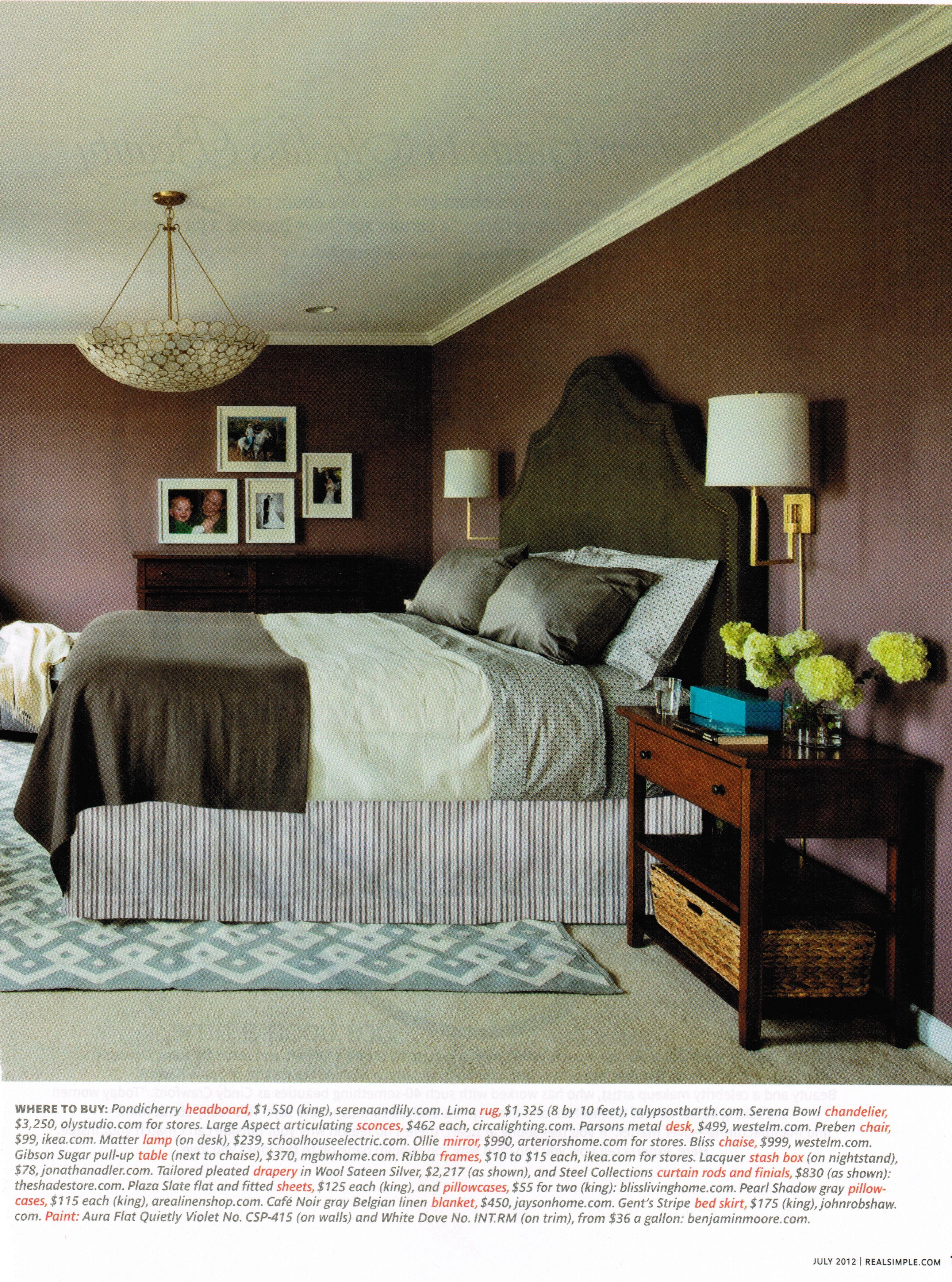 dusty purple bedroom aura flat quietly violet via real