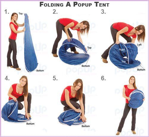 How To Fold A Pop Up Tent Works For A Tanning Tent Too