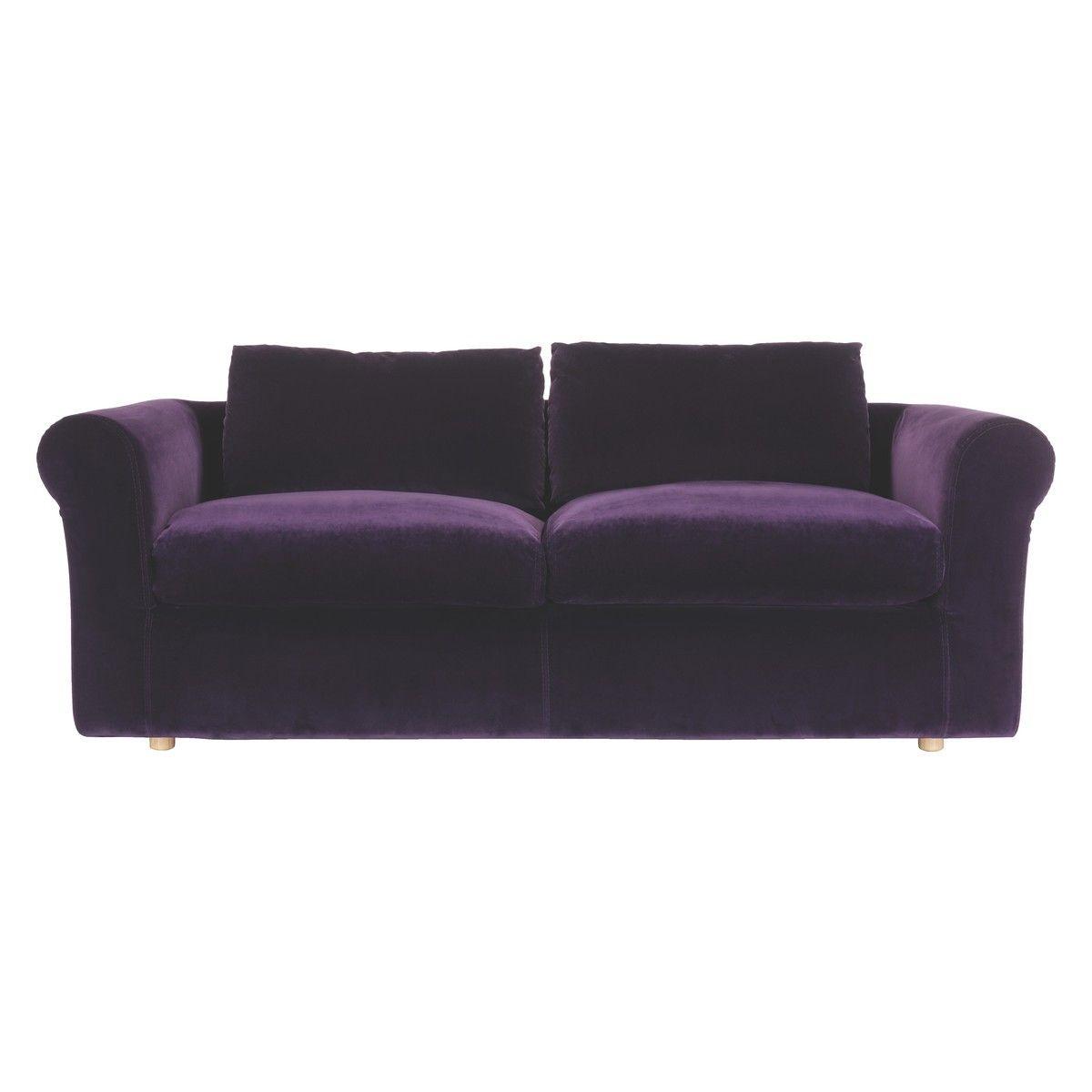 purple corner sofa bed standard size philippines velvet louis 3 seater