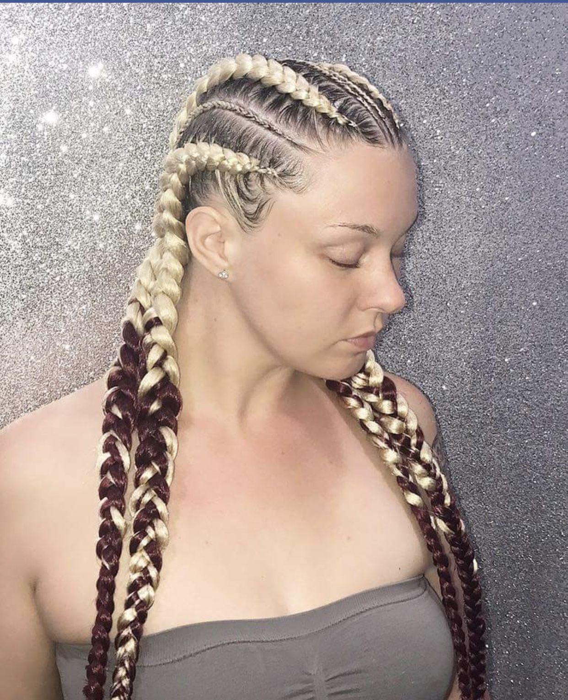Pin By Jillian Brianna On Caucasian Feed Ins Box Braids Hair Styles Hair Beauty Box Braids