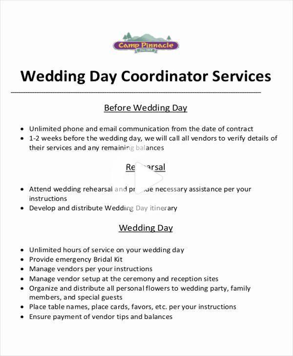 Contrat de coordinateur de mariage in 2020   Event ...