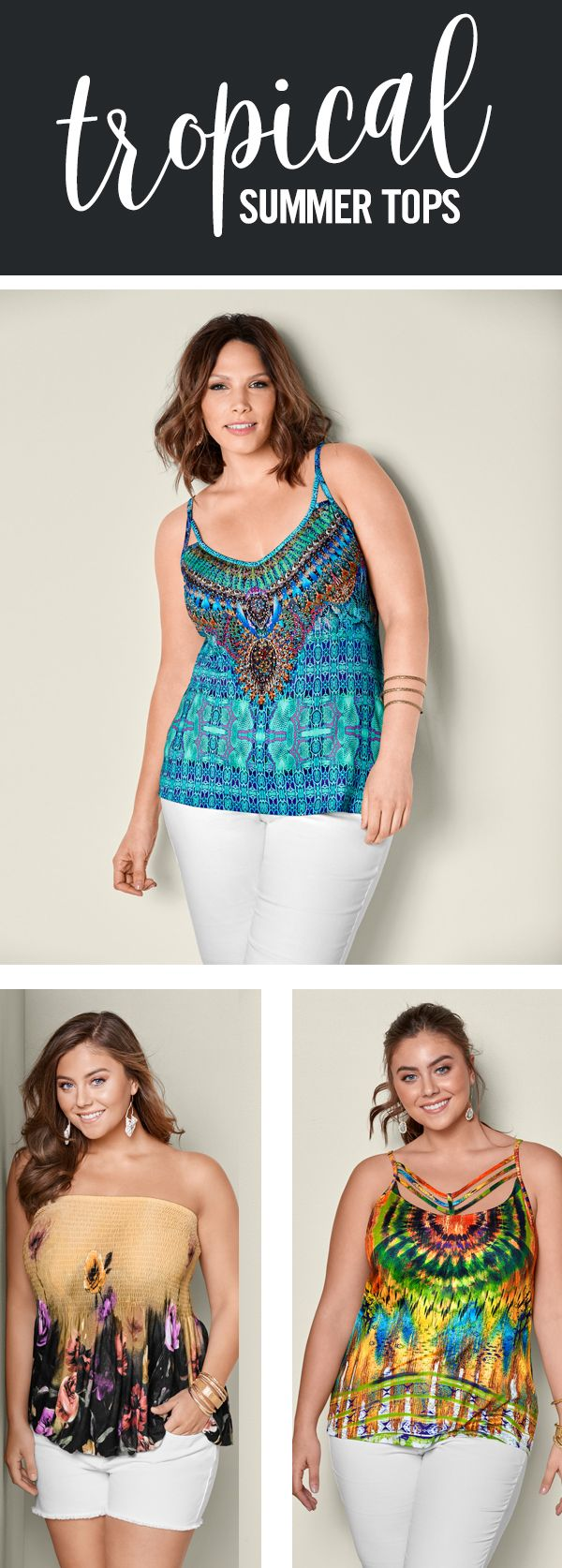 Tropical feels! You'll love these summer tops